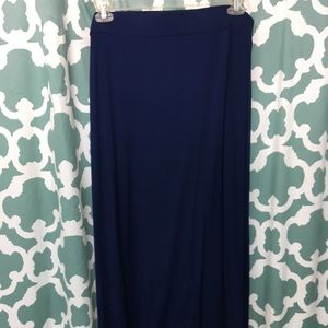 Long navy skirt XXL Tall